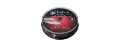 HP DVD+R DL 8.5 GB 8X DOUBLE LAYER 10'LU CAKEBOX
