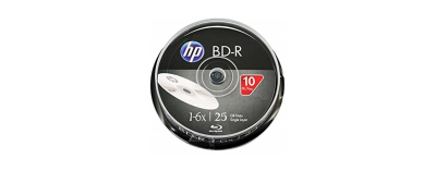 HP BD-R BLU-RAY 25 GB 10'LU CAKEBOX