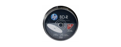 HP BD-R BLU-RAY 25 GB PRINTABLE 10'LU CAKEBOX